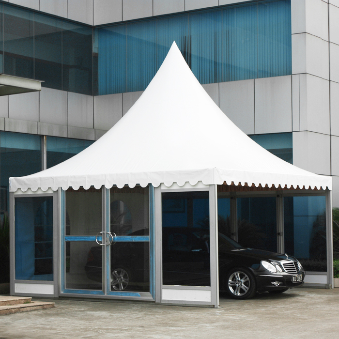 pvc cheap gazebo 5x5m in-green snow-prevention-6