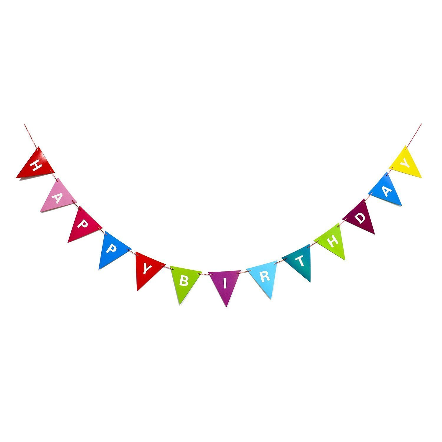 buy happy birthday paper pennant flag banner multicolor birthday