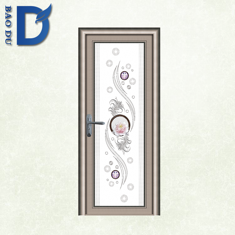 China Supplier Elegant waterproof soliding frosted glass doors design