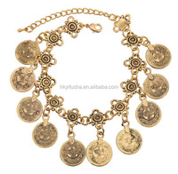 Belly dance fashion style antique coin bracelet anklet SP6036