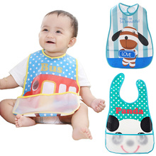 Brand Baby Bibs Waterproof Lunch Feeding Bib 14 Patterns Girl Boy Infant Apron Burp Cloths For