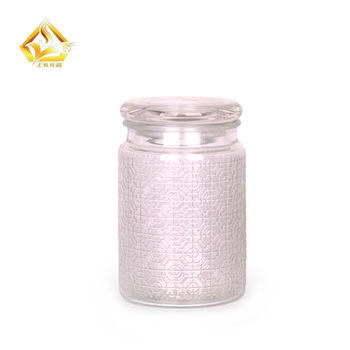 530ml Glass Food Containers Clear Storage Jars With Sealed Glass Lids
