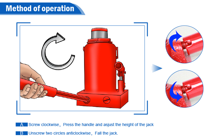 car lifting bottle mini manual jacks without screw rod