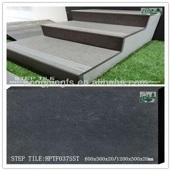 120x30x2cm 60x30x2cm Exterior Anti Slip Porcelain Stair Treads And ...