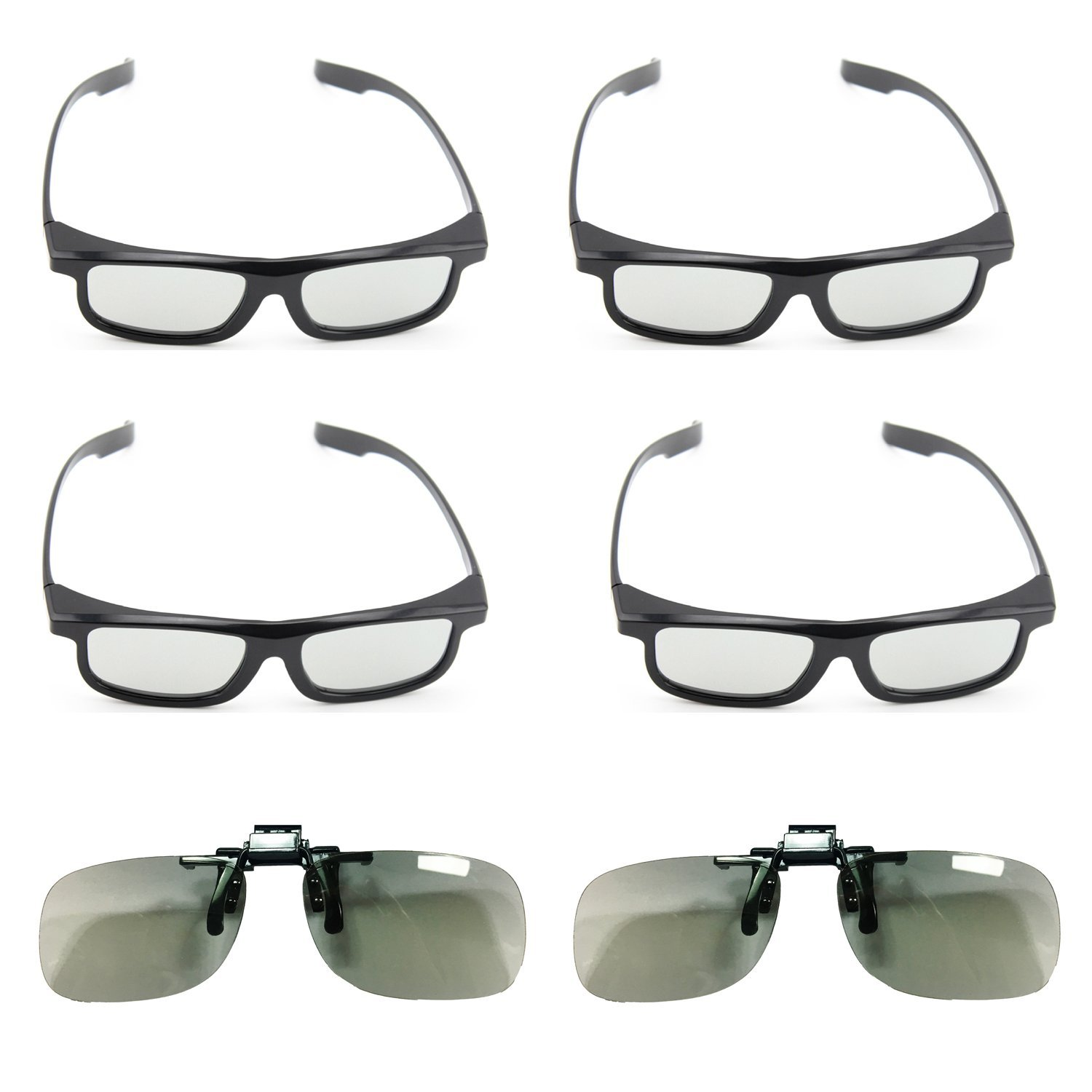 Goswot 6 Pairs of Passive Circular Polarized 3D Glasses for Real-D Theaters/ Passive 3D TVs