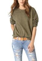 French Terry O-neck Sport Sweatshirt Keep Warm Long Sleeves Apparel
