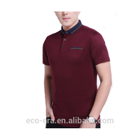 Stock Polo T-shirt Bambou Homme Polo Impression Personnalisée Conception