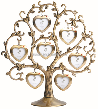 Seven Rose Mini Craft Family Tree Heart Shaped Photo Frames With