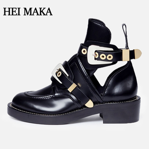 women boots 2018 Black latest design ladies genuine leather shoes women boots ankle