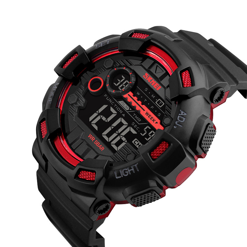 2018 Skmei 1243 Newest japan mov't Digital sports Watches With Free Instructions Manual