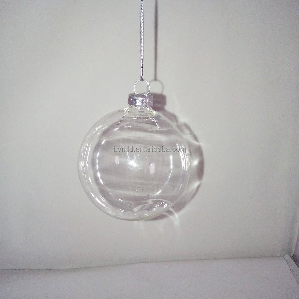 Bulk Christmas Ornaments Balls: Wholesale 8cm Clear Glass Hollow Christmas Ball Ornaments