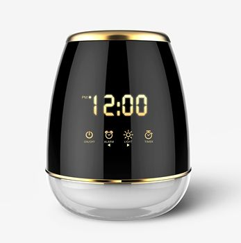 2019 new products ultrasonic humidifier aroma diffuser with Touch-Controlled Alarm Clock GH2128