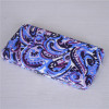 New Pattern Printed Canvas Purple Flat Women Wallet Clutch