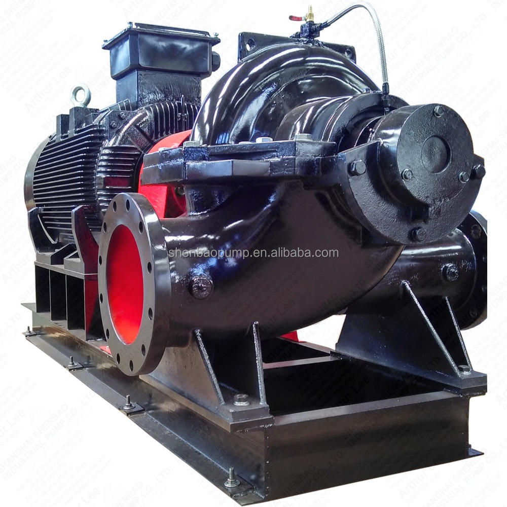 SBS250-480E motor driven axially split case double suction centrifugal pump