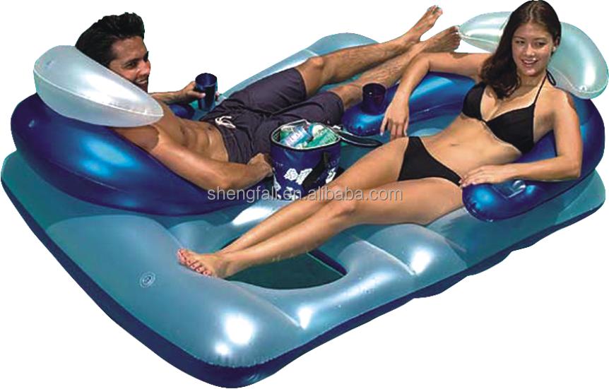 Floating outdoor bed - Outdoor decoratie zwembad ...