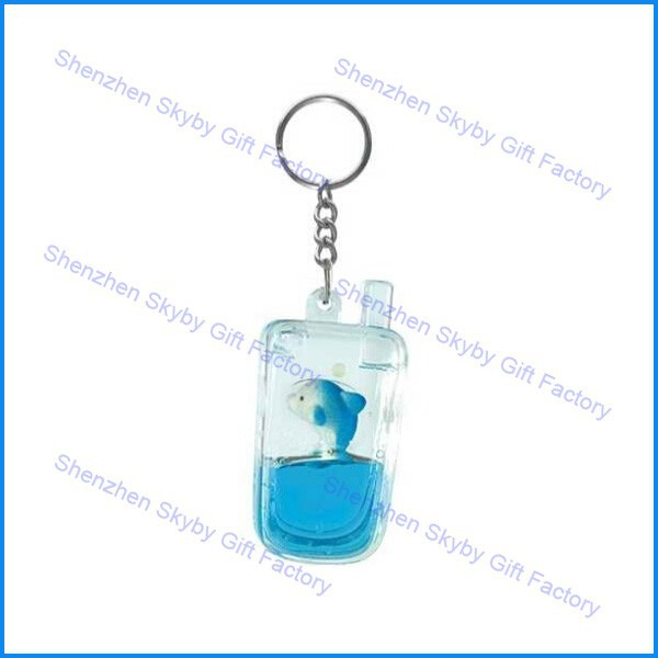 Custom Floater Floating Liquid Mobile Phone Key Chain