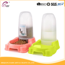 Functional plastic dog water and food bowl can put a bottle