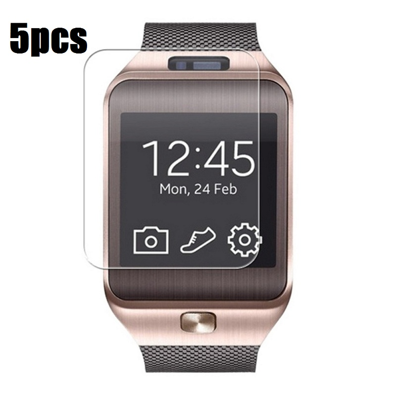 5PCS Clear Transparent LCD Screen Protector Protective Film for DZ09 Bluetooth Smart Watch фото