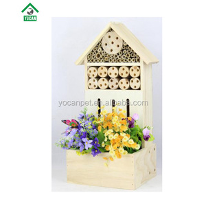 Non-toxie Wooden Bug Bee House Insect Hotel For Garden Flower Plant