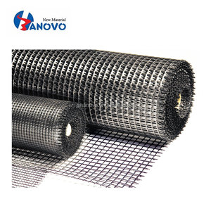Asphalt layer reinforcement self-adhesive geogrid fiberglass geocomposite