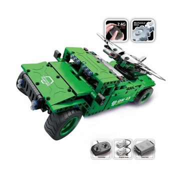 506PCS Technic Kids 2.4G Remote Control Electric Block Car