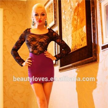 57b31909da No moq Wholesale transparent sexy night dress for girls lace evening dress  short