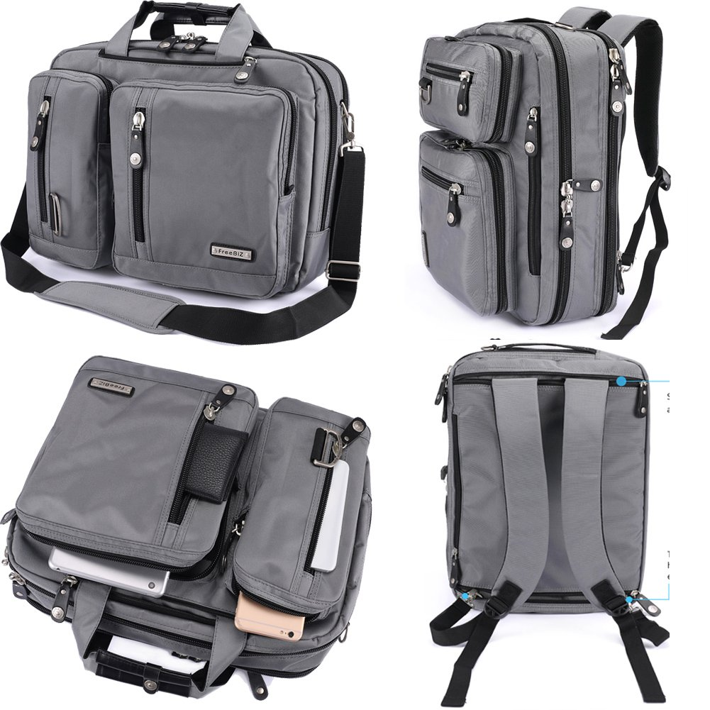 3496b61df418 Get Quotations · FreeBiz Laptop Bag 17 Inch Laptop Backpack Nylon  Water-Resistant Briefcase with Handle and Shoulder
