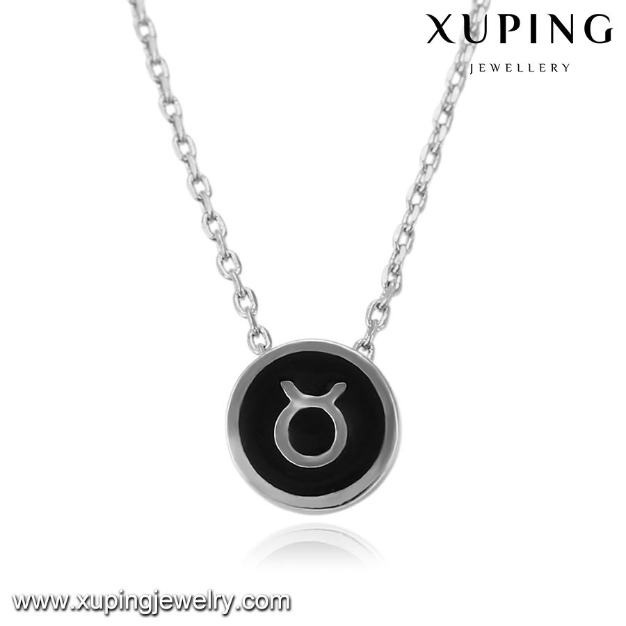 43397 XUPING black constellations Taurus jewlery newest design gold jewelry necklace