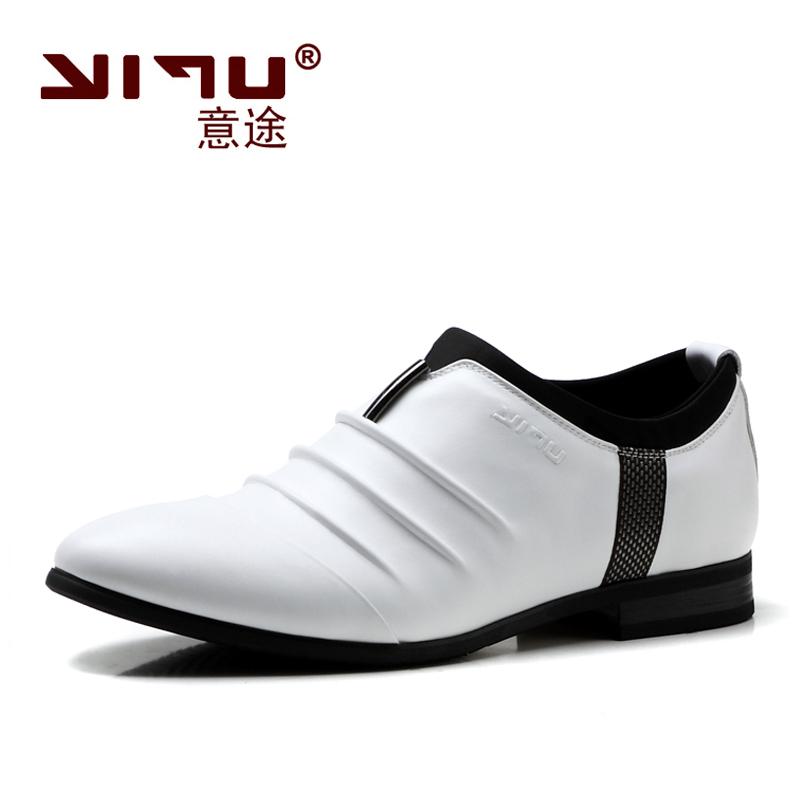 2014 весна кроссовки мужчины свободного покроя дышащий из натуральной кожи обувь мода мужской свадьба квартиры туфли