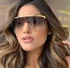 2019 98021 Metal one piece big frame fashion shades Amazon hot sunglasses for wholesale