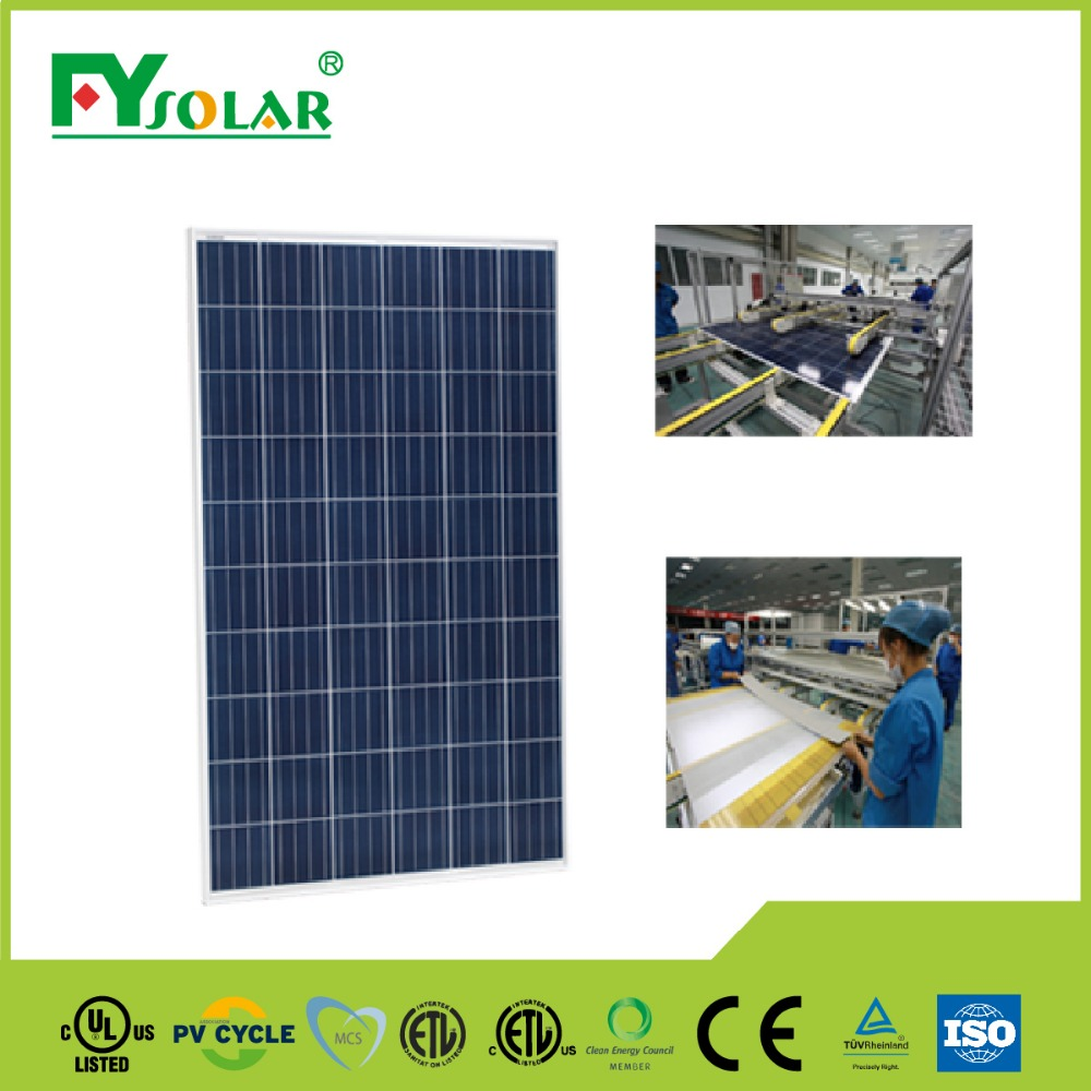 Poly PV solar module 260w with cheap price for poly solar panel 12v for home solar systems