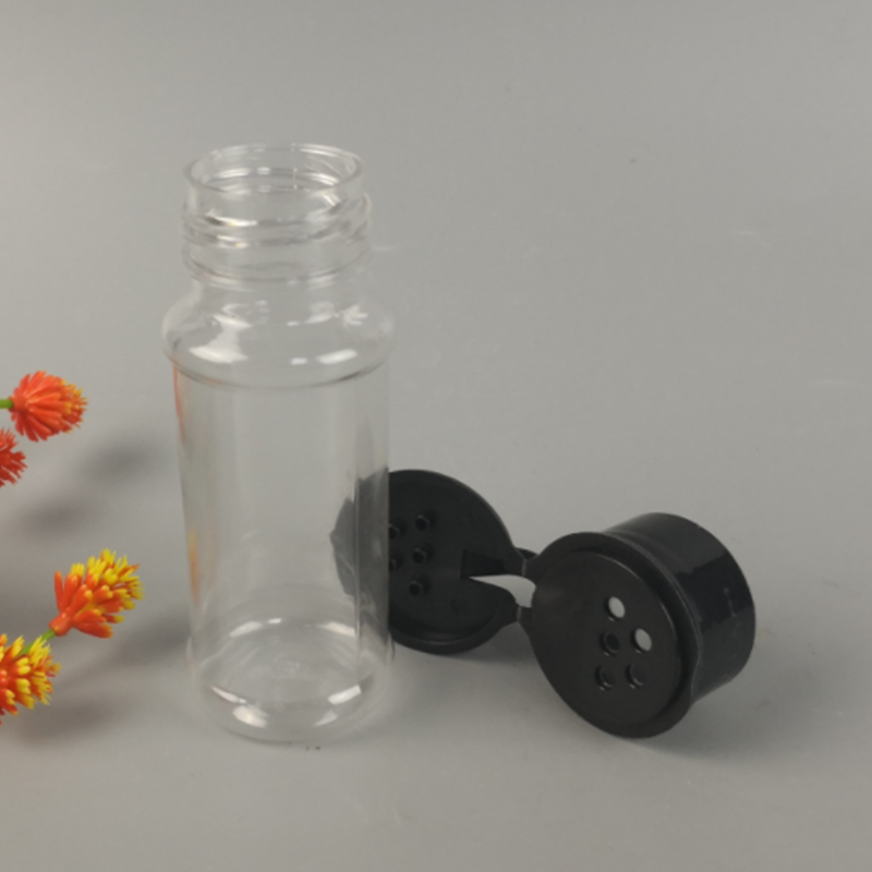 100ml/200ml PET plastic bottle with caps spice seasoning bottles with flip cap for spice and powder
