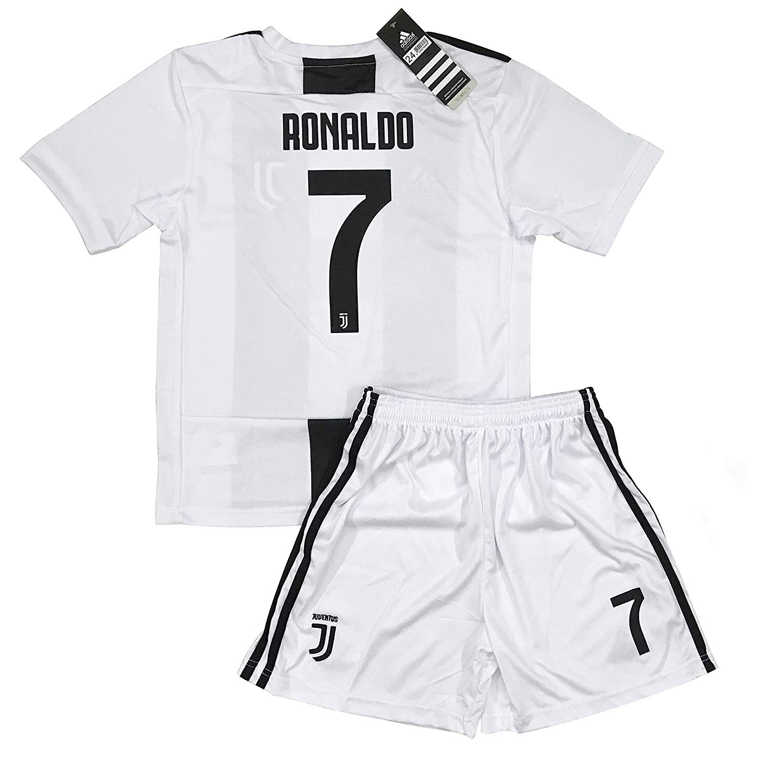 bbe157d9d12 Get Quotations · LiveSport New 2018-2019 Ronaldo  7 Juventus Home Jersey  and Shorts for Kids