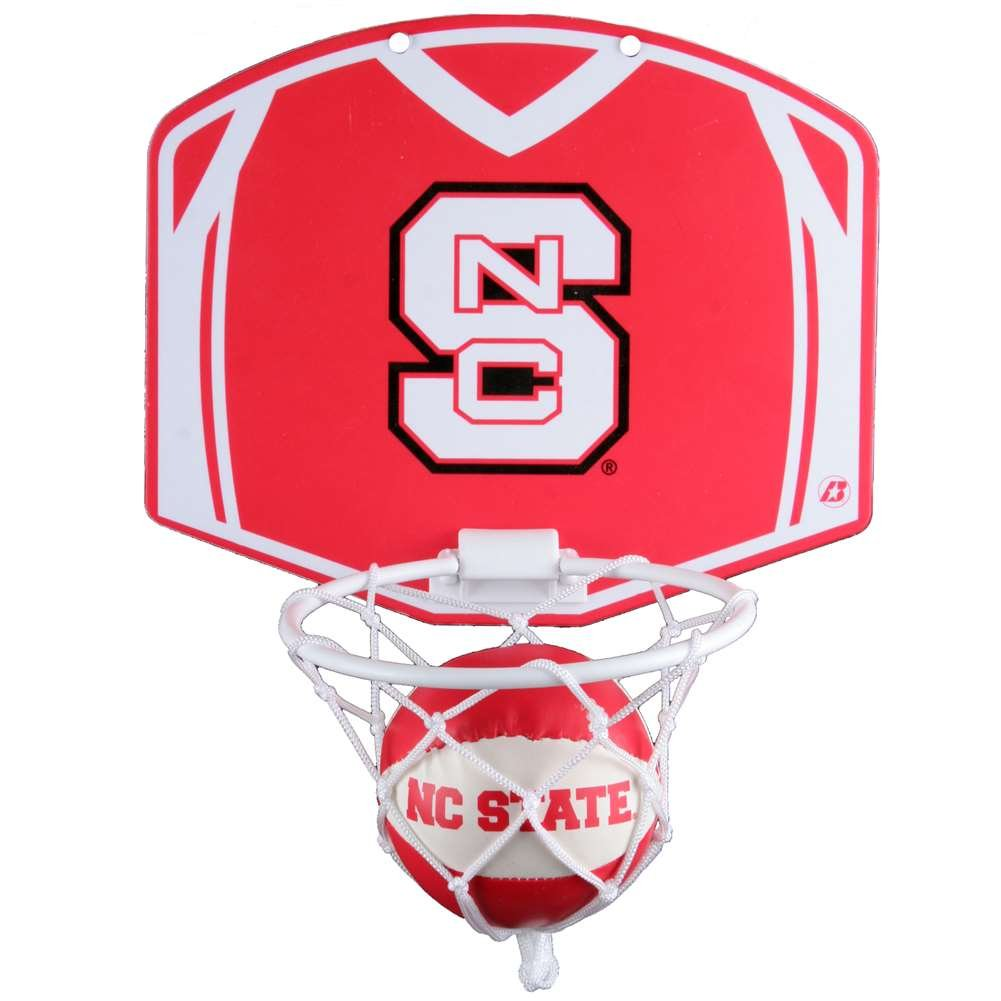 North Carolina State Wolfpack Mini Basketball And Hoop Set