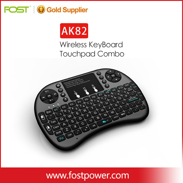 2016 hot selling wireless keyboard mouse with multi touch points functions built-in battery cell