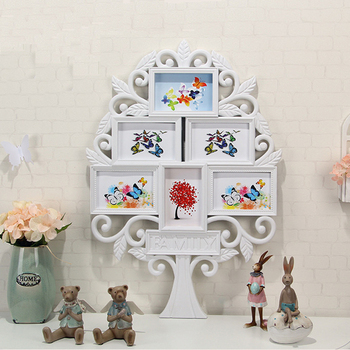 Tree Shaped Wall Hanging Photo Frames Multi Family Tree Photo Frame ...