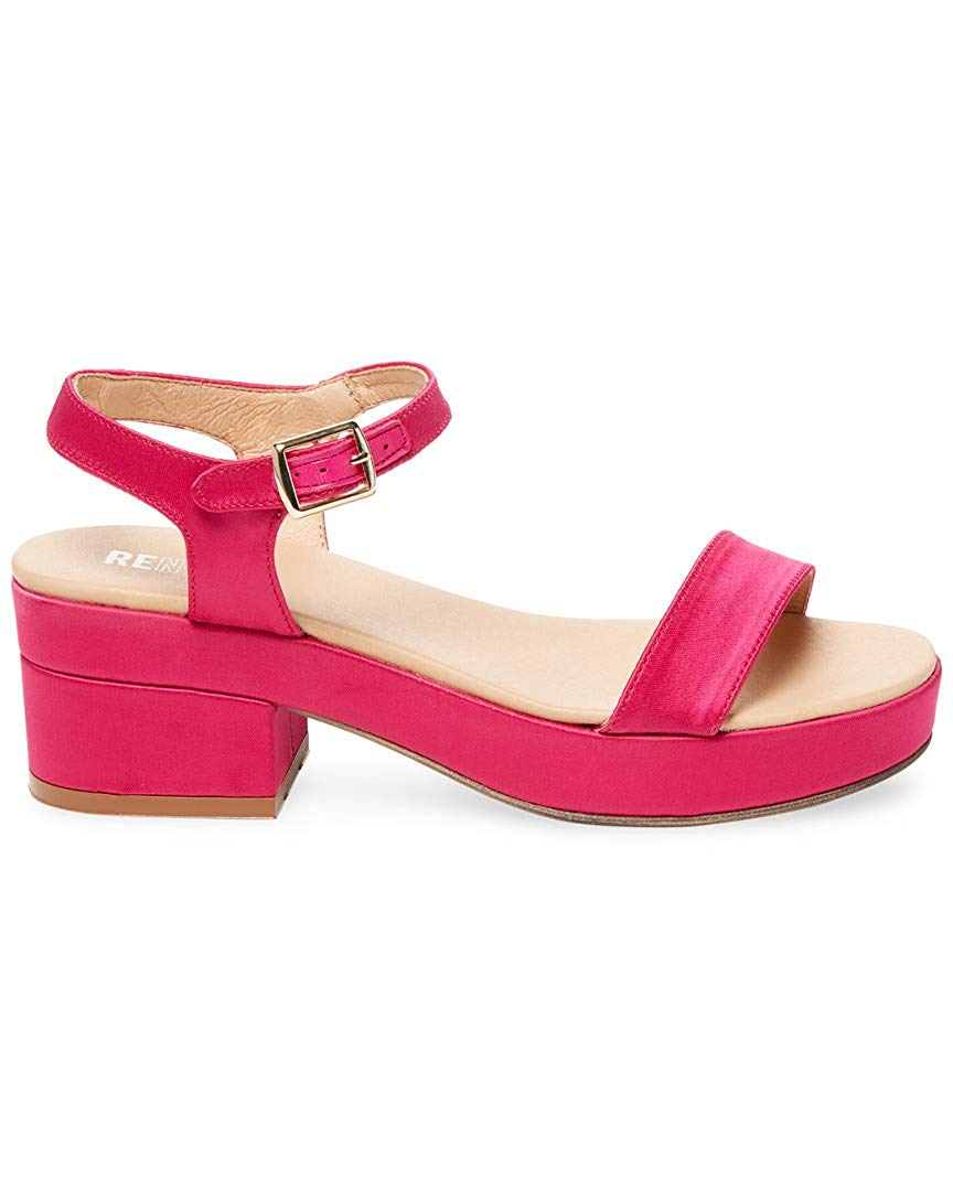 9cff769c0b69 Get Quotations · Renvy Satin Block Heel Sandal