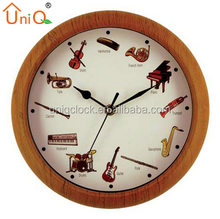 Popular musical sound round wall clock