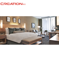 Motel furniture (King headboard, Nightstand, Desk, Chair, Armchair, Side table, TV Cabinet, Luggage rack) for hotel