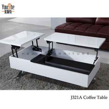 Genial High Gloss Modern Lift Top Coffee Table Mechanism