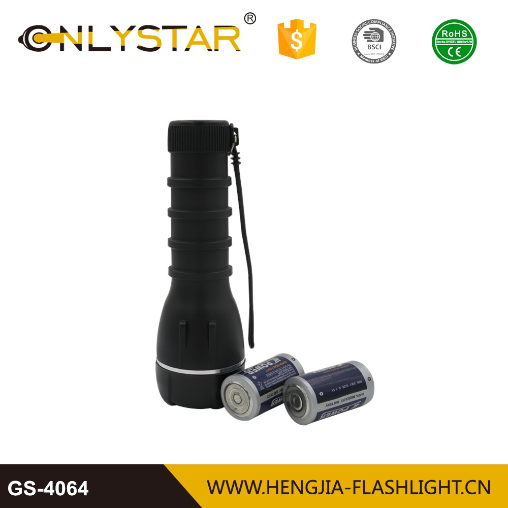 led rubber flashlight plastic light torch plastic body led water resistant torch