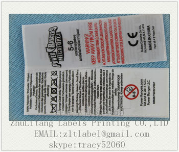 Direct Manufacturer Ce Woven Edge Ribbon Warning Label Wash Care ...