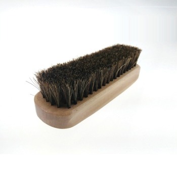 New wholesale wooden shoe brush high quality horsehair shoe brush