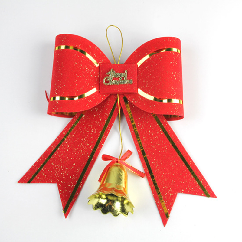 bonito bonito lazo rojo con campana campanas de navidad para la decoracin del partido del festival