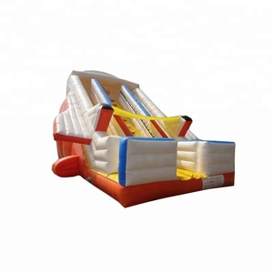 white inflatable ship slide inflatable rocket ship inflatable cruise ship dry slide