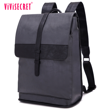 f522ccf697fb New coming designer college boys school bags leather mochila top class PU  backpack for men