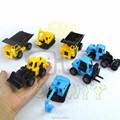 8 PCS Inertial Construction Machines Toy Discast Excavator Digger Crane Loader Forklift Road Roller Drilling Vehicle