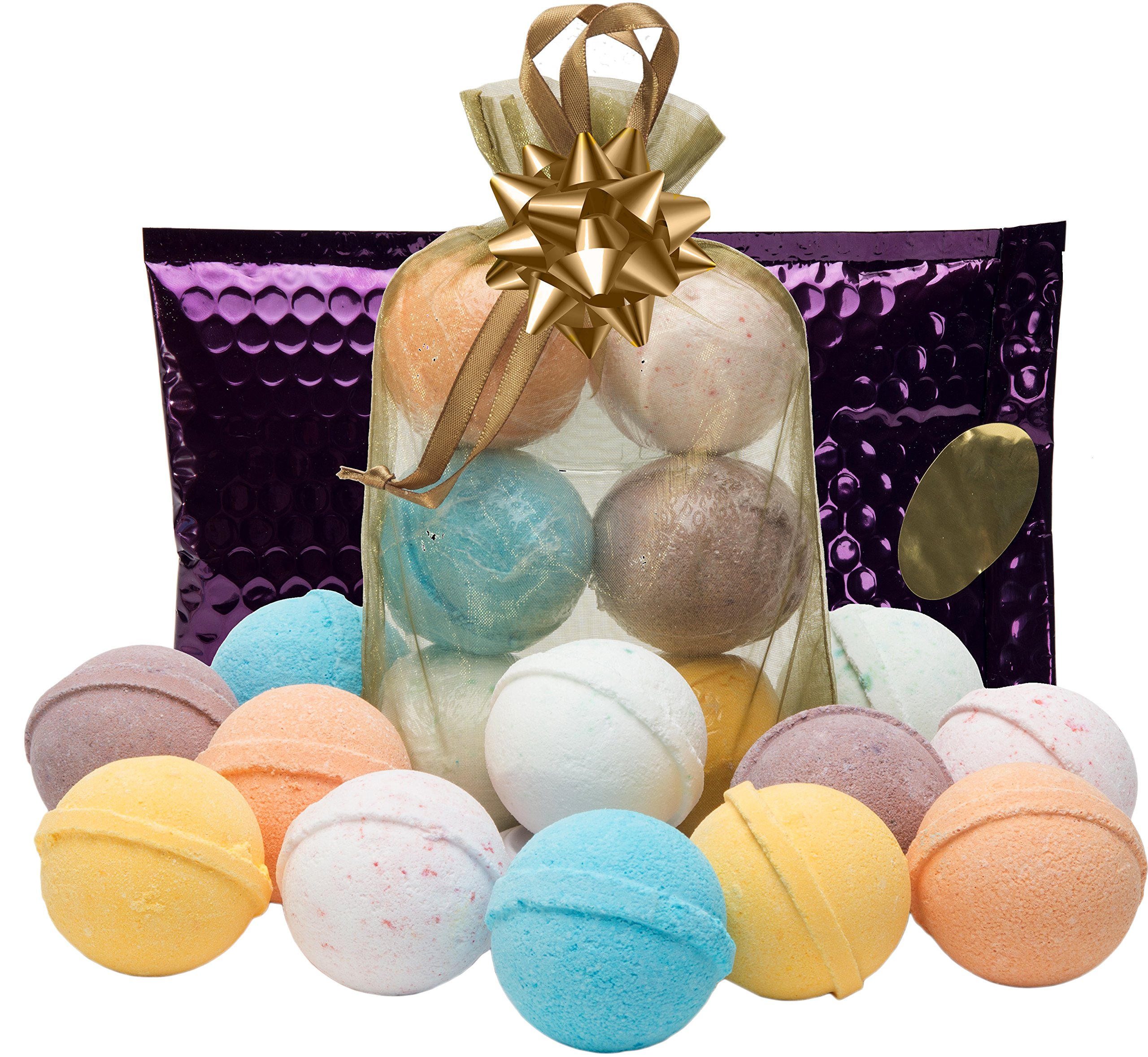 Bath Bombs Gift Set 6 USA Lush Spa FizziesTeacher Appreciation Gifts Natural