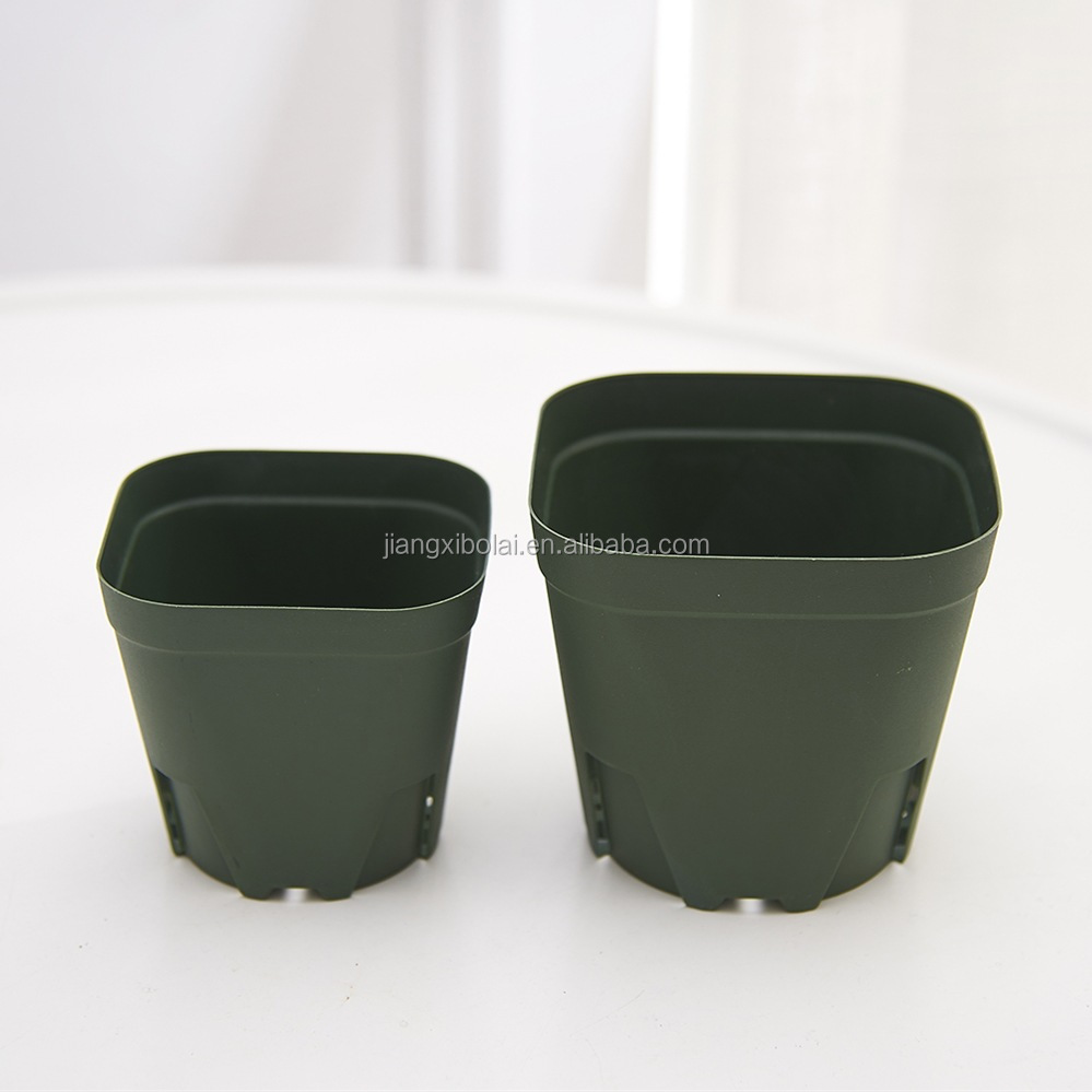 Bulk sale green nursury pot garden flower pot for plants made in China