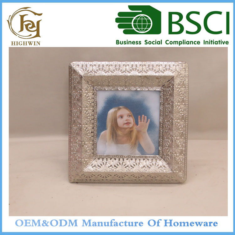 2017 shabby chic silver decorative square picture photo frame